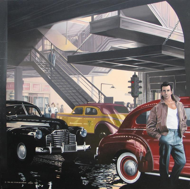 "6 - An old Wabash                  Oil on canvas  48""x 48'"